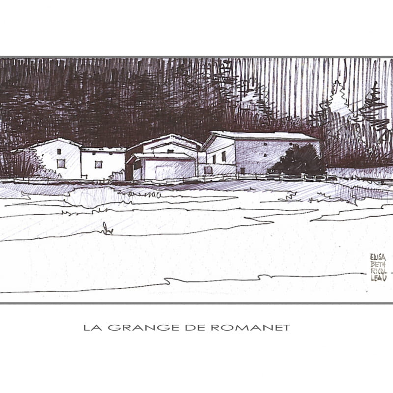 La Grange de Romanet guest room