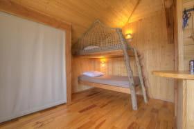 L'espace sommeil pour petit et grands et son couchage