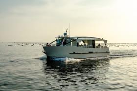 Le Foué, nouveau bateau electro-solaire à Yvoire