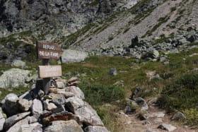 Sentier à l'Alpette avant de monter au refuge