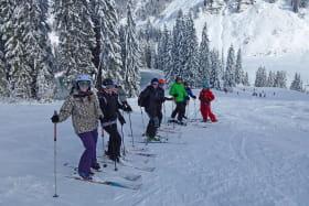 Cours collectif de ski alpin