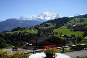 Vue du Mont-Blanc depuis l'appartement