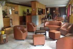 Salon de l'hôtel le Malamot à Val Cenis