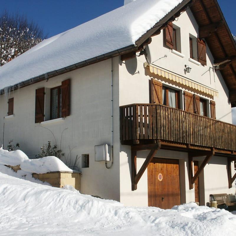 Villa blanche Hiver