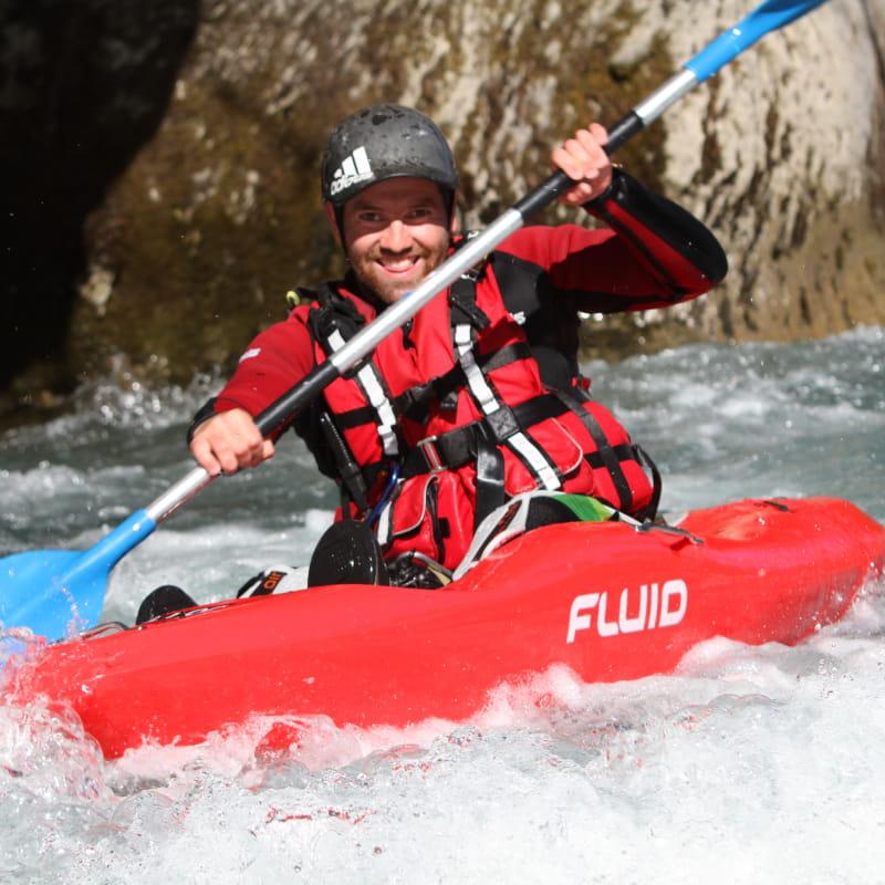 Sortie open kayak sur la rivière du Giffre