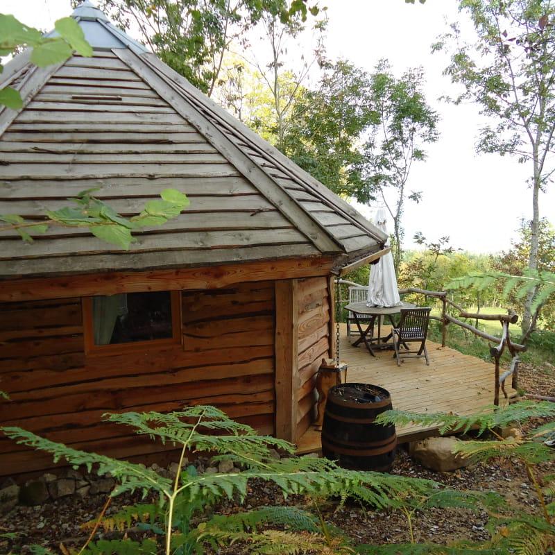 Cabane vue extérieure