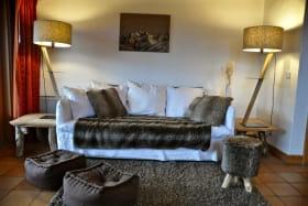 Le canapé lit dans le salon