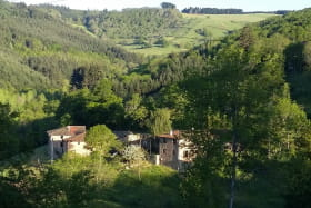 Gîte du Grand Peisselay à VALSONNE (Rhône - Beaujolais Vert) : la maison dans son environnement.