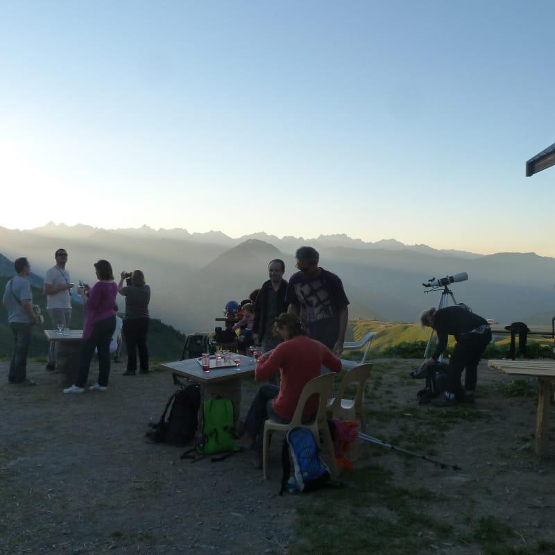 La terrasse du chalet d'Alpage