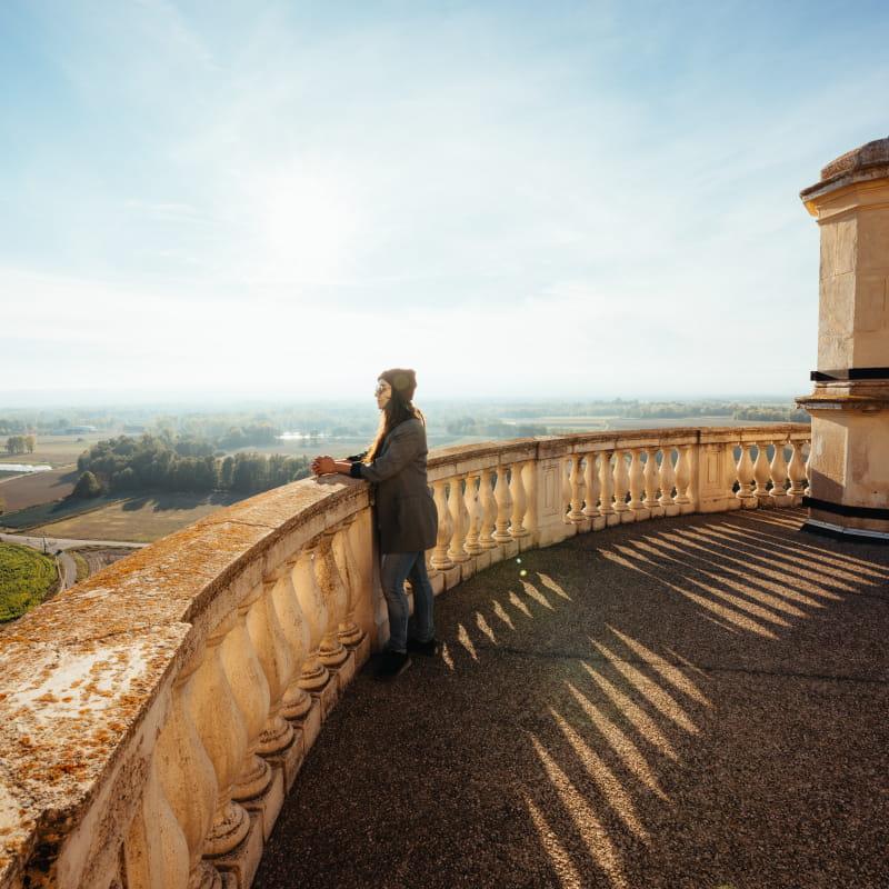 Toit terrasse du Château de Bouthéon