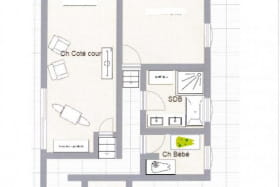 plan chambre côté cour