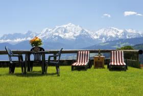 Terrasse vue Mt Blanc