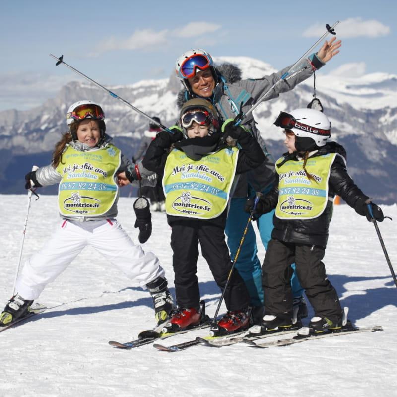 Cours privés de ski pour enfants 3/13 ans