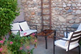 Salon extérieur couvert