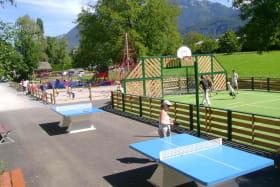 Ping pong Basket au camping