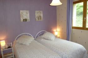 Gîte de Maulmont - Saint-Priest-Bramefant - chambre 2 lits