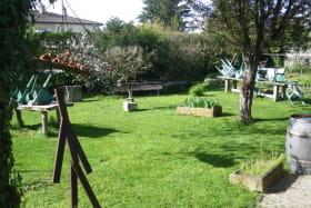Le jardin au Printemps avant l'installation de la terrasse