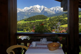 Vue sur le Mont Blanc du balcon