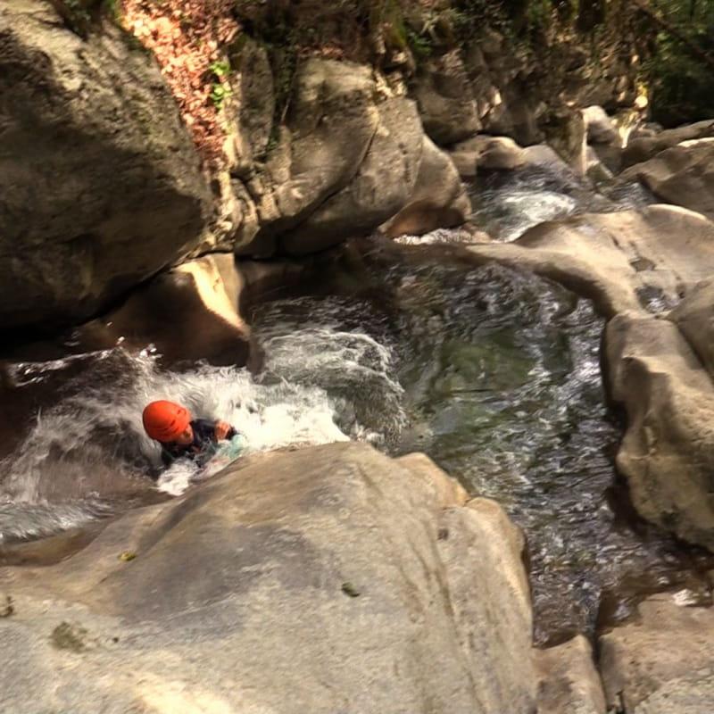 Canyon famille : les toboggans de Balme