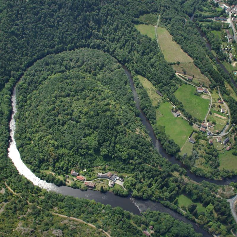 Vue aérienne sur la Presqu'ile