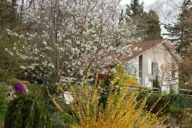 Le gîte est une maison indépendante de 122 m², située sur une colline ensoleillée, dans un parc arboré & tranquille.