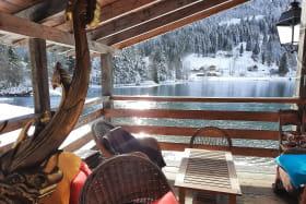 la terrasse l'hiver