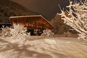 Soir d?hiver, ambiance silencieuse et feutrée.