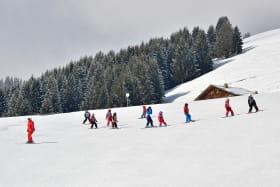 Cours de ski sur le domaine skiable de l'Essert
