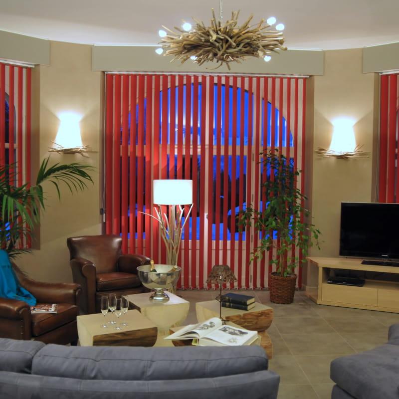 Séjour de l'appartement 4* à Combloux avec services hôteliers