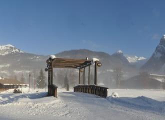 Lac aux Dames leisure centre in winter
