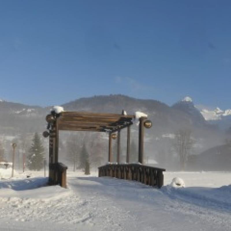 Base de loisirs du lac aux Dames en hiver