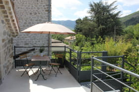 vue de la terrasse coté jardin