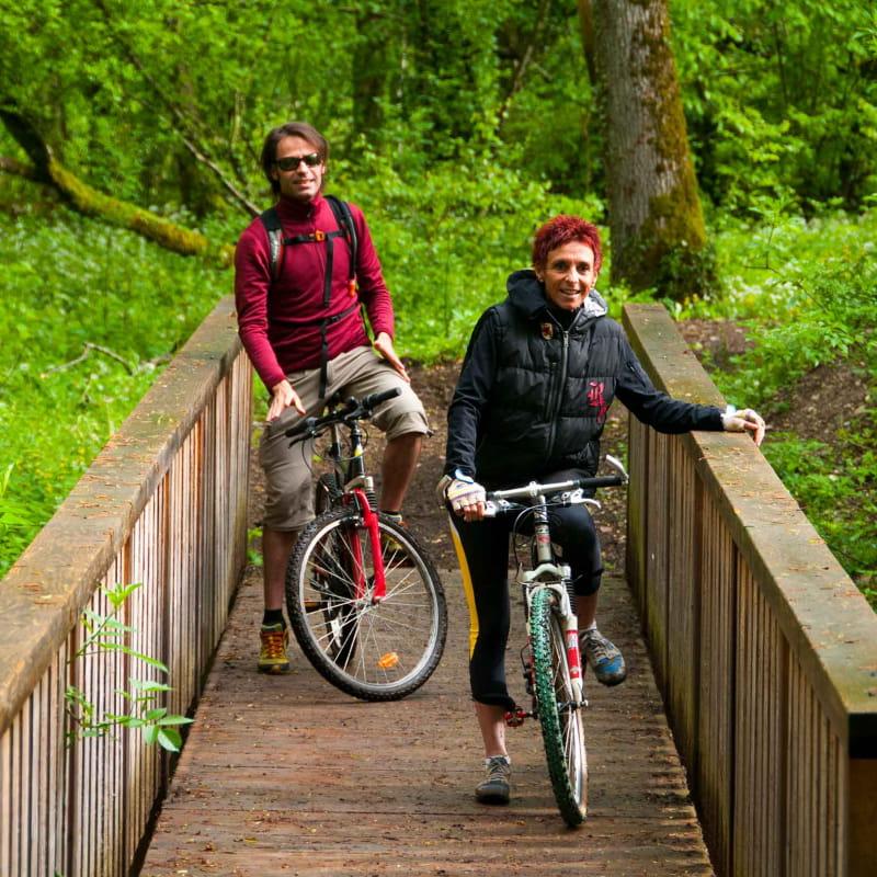 Itineraire vtt balise aux Sources du lac Annecy