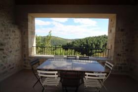 Terrasse couverte avec vue magnifique
