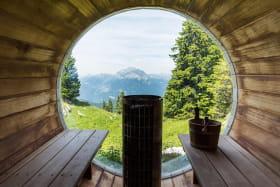 Vue sauna cosmisque