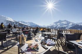 Superbe panorama sur le Mont-Pourri depuis la terrasse