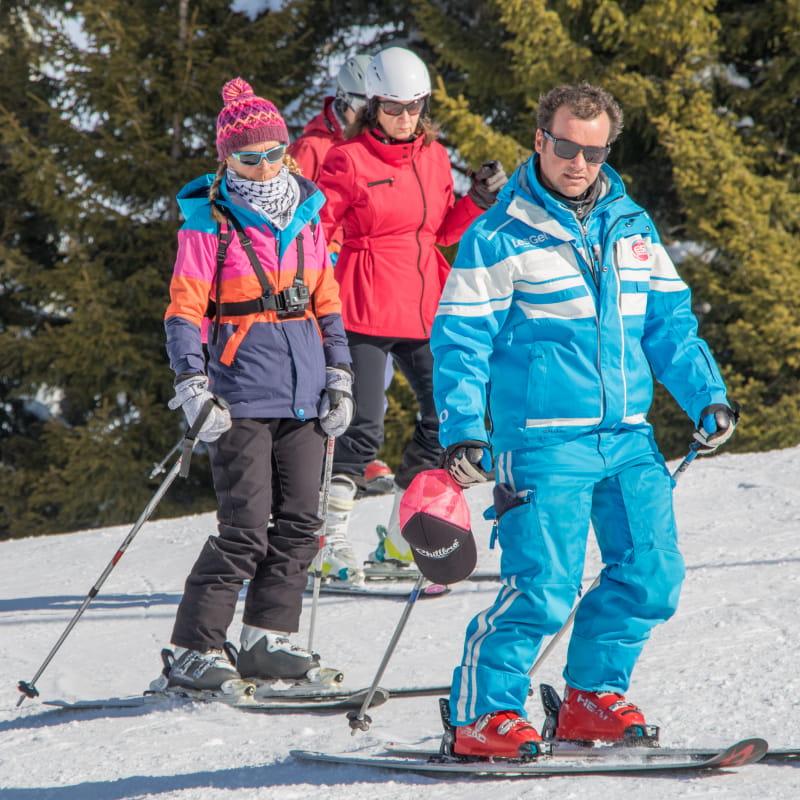 Groupes privés de 3 à 8 personnes ski ou snowboard