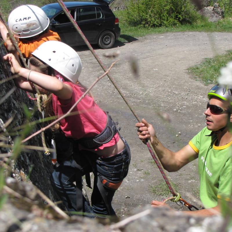 Escalade débutants à Albiez
