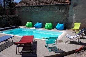La piscine chauffée à 27°C