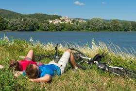 Sieste en voyage à vélo sur ViaRhôna