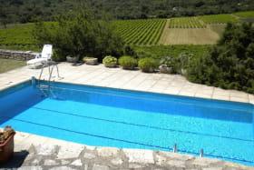 Autre vue de la piscine commune Piscine à partager avec un autre petit gite.
