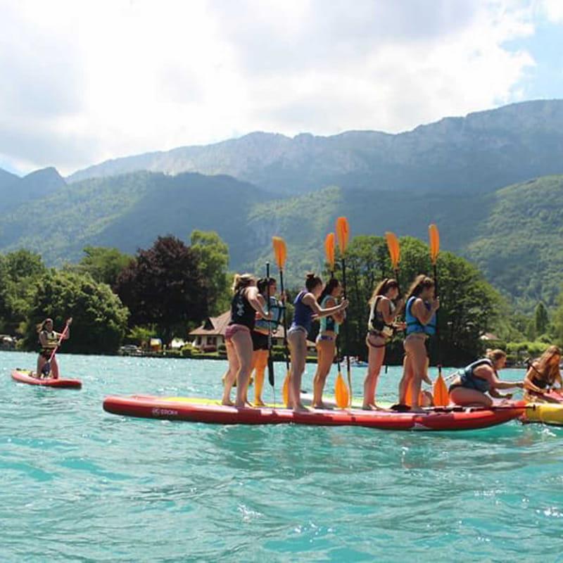 Location de paddle géant lac Annecy