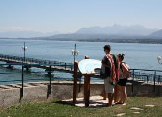 Table d'orientation : Les Préalpes chablaisiennes, le port des pêcheurs