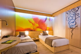 Chambre Twin hotel La Croix de Savoie
