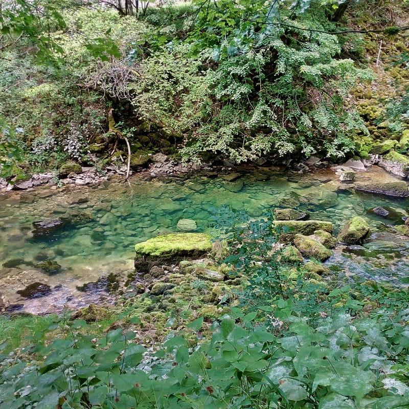 Les eaux bleutées de l'Albarine