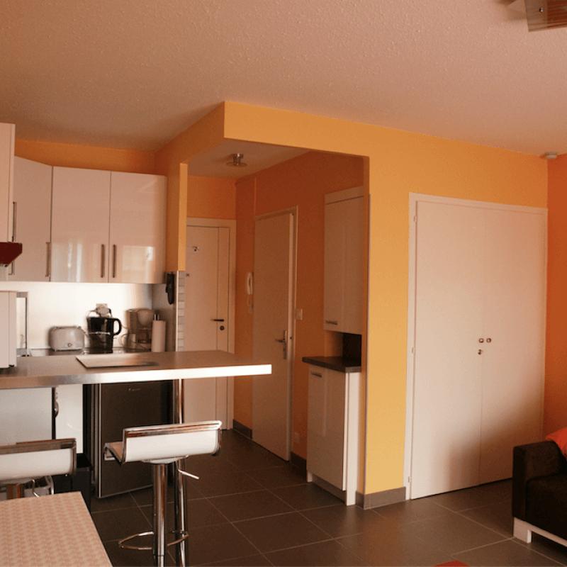 Vue de l'intérieur de l'appartement