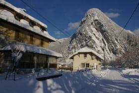 Via ferrata La Roche à l'Agathe en hiver