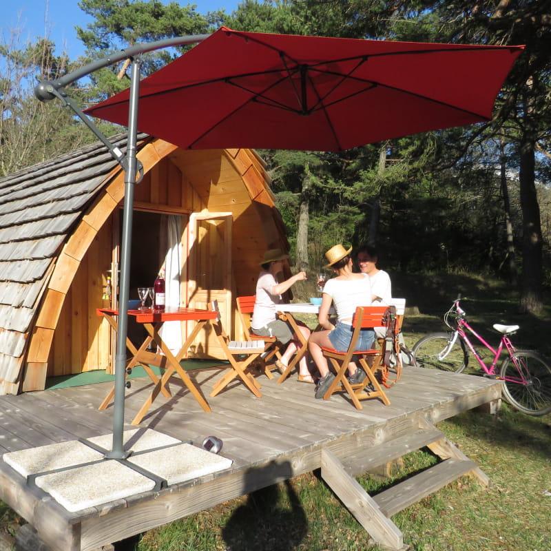 Cabanes Tatous du camping la Condamine