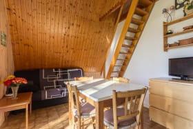 Accès deuxième chambre par escalier type échelle de meunier