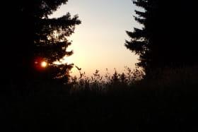 Coucher de soleil depuis la crête des Follys